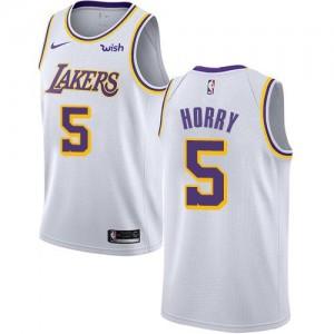 Maillot De Basket Horry Lakers Blanc #5 Nike Enfant Association Edition