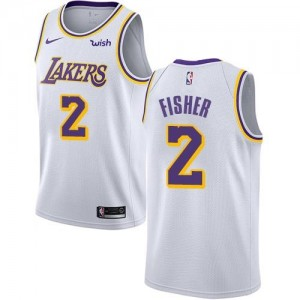 Maillot De Fisher Lakers Association Edition Nike No.2 Blanc Enfant