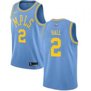 Maillots Lonzo Ball LA Lakers Hardwood Classics Homme Nike #2 Bleu