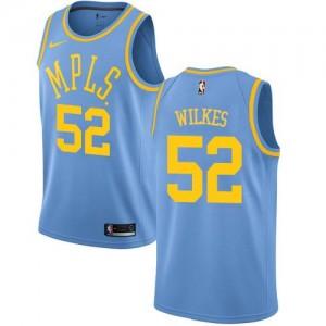 Nike Maillots De Basket Wilkes LA Lakers Hardwood Classics #52 Bleu Homme