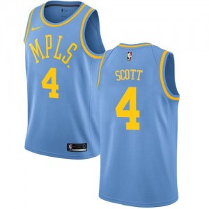 Nike Maillots Basket Scott LA Lakers Homme Hardwood Classics #4 Bleu