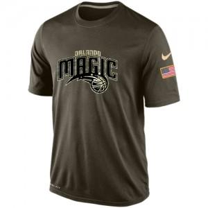 Nike NBA T-Shirt De Basket Orlando Magic Olive Salute To Service KO Performance Dri-FIT Homme