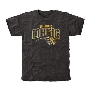 NBA Tee-Shirt Magic Gold Collection Tri-Blend Noir Homme