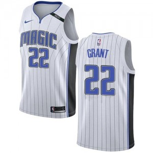 Nike Maillots Basket Jerian Grant Orlando Magic Homme Blanc Association Edition No.22