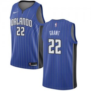 Nike NBA Maillots Basket Jerian Grant Orlando Magic Icon Edition Bleu royal Homme #22