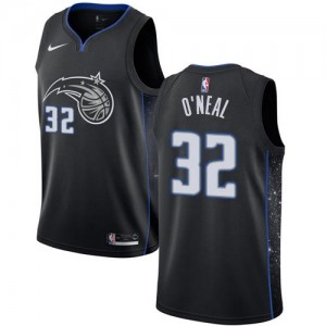 Nike NBA Maillots Basket Shaquille O'Neal Orlando Magic #32 Noir Enfant City Edition