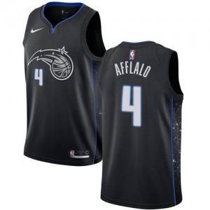 Nike NBA Maillots De Afflalo Magic No.4 City Edition Noir Homme