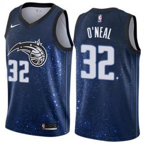 Nike NBA Maillots Basket O'Neal Orlando Magic City Edition Homme #32 Bleu