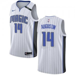 Nike NBA Maillot Basket Augustin Magic No.14 Blanc Enfant Association Edition