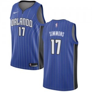 Maillots De Jonathon Simmons Magic Bleu royal Homme Icon Edition Nike No.17