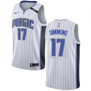 Maillots Basket Simmons Orlando Magic #17 Association Edition Blanc Nike Enfant