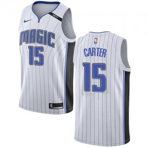 Nike Maillots Carter Magic Association Edition No.15 Blanc Enfant