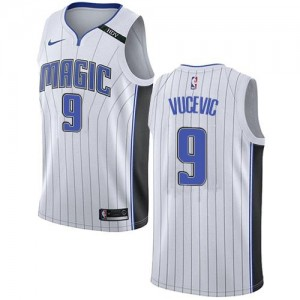 Nike Maillot De Basket Vucevic Magic Enfant No.9 Association Edition Blanc