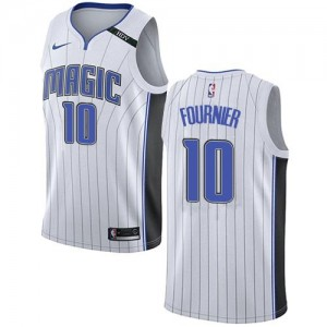 Nike NBA Maillots De Evan Fournier Orlando Magic #10 Association Edition Enfant Blanc