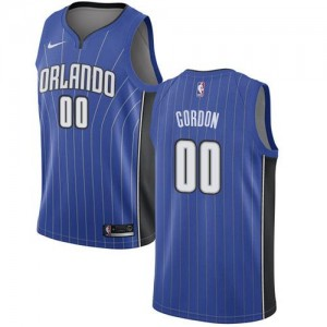 Nike NBA Maillots Basket Aaron Gordon Orlando Magic Bleu royal Enfant No.0 Icon Edition
