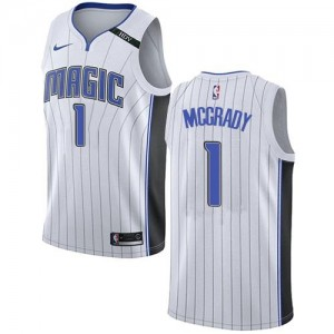 Nike NBA Maillot Basket Tracy Mcgrady Magic Enfant Blanc Association Edition #1