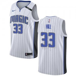 Nike Maillot Basket Grant Hill Orlando Magic Enfant Blanc Association Edition #33