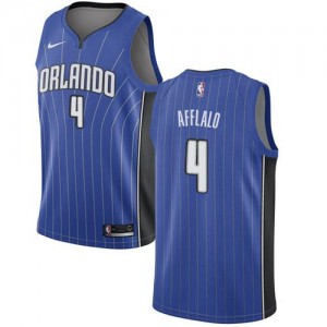 Nike NBA Maillot Basket Arron Afflalo Orlando Magic #4 Bleu royal Icon Edition Enfant
