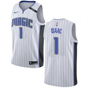 Nike Maillots Basket Isaac Magic #1 Association Edition Enfant Blanc