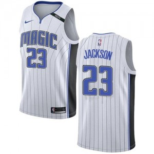 Nike Maillots Justin Jackson Orlando Magic Association Edition Enfant Blanc #23