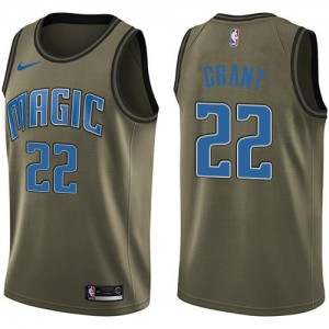 Nike NBA Maillots Jerian Grant Magic No.22 Salute to Service vert Homme