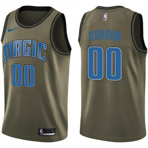 Nike Maillots Basket Gordon Orlando Magic Homme Salute to Service No.0 vert