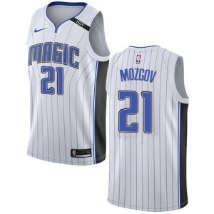 Maillots De Basket Mozgov Orlando Magic Enfant Association Edition Blanc Nike #21