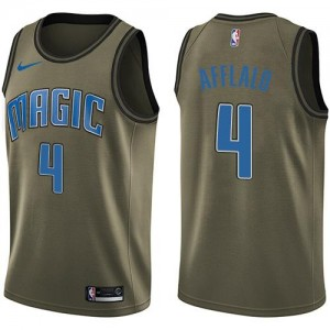 Maillots Basket Afflalo Magic vert #4 Salute to Service Nike Homme