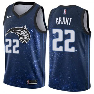 Nike Maillots Basket Grant Orlando Magic Enfant #22 Bleu City Edition