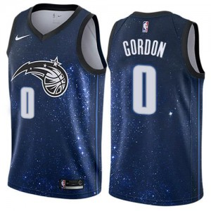 Maillot De Basket Aaron Gordon Orlando Magic Nike No.0 City Edition Bleu Homme