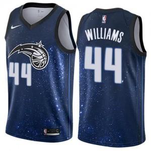 Nike Maillots De Basket Jason Williams Magic Bleu Homme No.44 City Edition