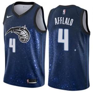 Maillots Arron Afflalo Orlando Magic Nike Bleu Homme #4 City Edition