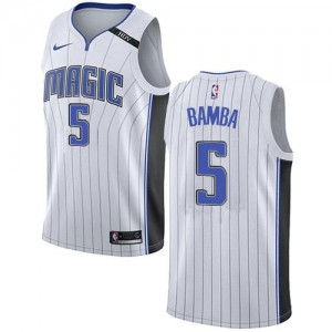 Maillot Bamba Orlando Magic Enfant No.5 Blanc Association Edition Nike