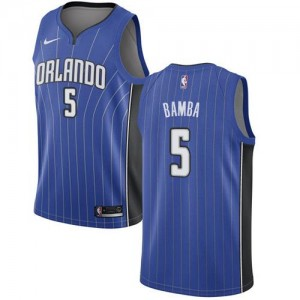 Maillots Basket Mohamed Bamba Orlando Magic Enfant Icon Edition Bleu royal #5 Nike