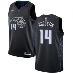 Maillots Basket Augustin Orlando Magic City Edition Enfant No.14 Noir Nike