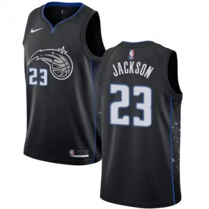 Nike NBA Maillot Justin Jackson Magic Enfant City Edition Noir #23