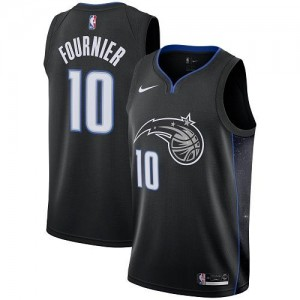 Maillots Basket Evan Fournier Magic #10 Enfant Nike City Edition Noir