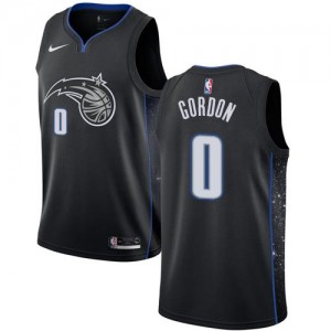 Maillots Aaron Gordon Magic Enfant Nike No.0 Noir City Edition