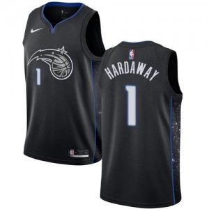 Maillots Basket Penny Hardaway Orlando Magic Nike Noir City Edition No.1 Enfant