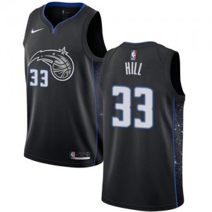 Nike Maillots Grant Hill Orlando Magic City Edition No.33 Noir Enfant