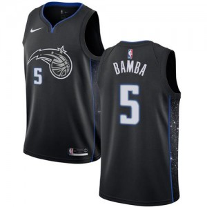 Nike Maillots De Bamba Orlando Magic Enfant City Edition No.5 Noir