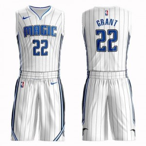 Nike Maillots Jerian Grant Magic Blanc Homme Suit Association Edition No.22