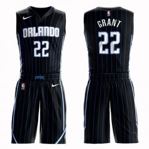 Maillot Jerian Grant Orlando Magic Nike Homme No.22 Suit Statement Edition Noir