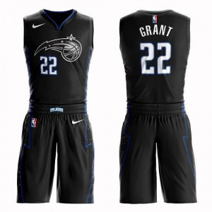 Nike NBA Maillots Basket Grant Magic No.22 Noir Enfant Suit City Edition