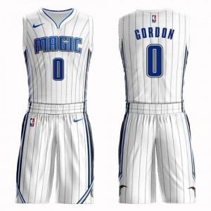 Nike NBA Maillot De Aaron Gordon Magic Homme Blanc No.0 Suit Association Edition