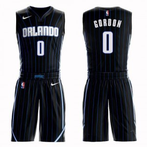 Maillots De Gordon Magic Noir #0 Suit Statement Edition Nike Homme