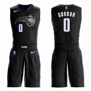 Maillots Basket Aaron Gordon Orlando Magic Homme Suit City Edition Nike Noir #0
