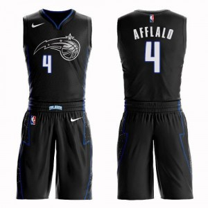 Nike Maillots Afflalo Orlando Magic Homme Suit City Edition Noir No.4