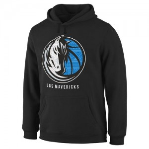 Hoodie Basket Dallas Mavericks Homme Noir Noches Enebea Pullover