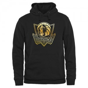 Sweat à capuche Mavericks Homme Gold Collection Pullover Noir